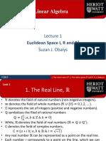 Linear Algebra Lect 1
