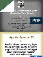 Ppt Ujian Inkontinensia Urine