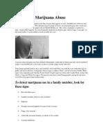 Identifying Marijuana Abuse