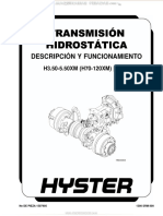 Manual Descripcion Funcionamiento Transmision Hidrostatica
