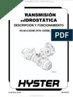 Manual Descripcion Funcionamiento Transmision Hidrostatica
