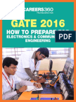 GATE 2016 How to Prepare for Electronics and Communication Engineering (ECE)