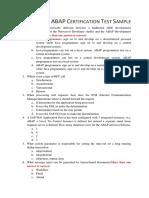 ABAP Certification Test