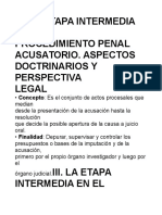 JUICIO ORAL Etapa Intermedia.