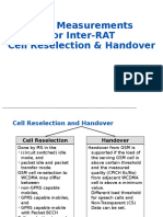 GSM Measurements for Inter-RAT - Cell Reselection & Handover