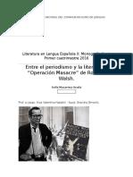 Monografia Final Literatura Rodolfo Walsh Operacion Masacre