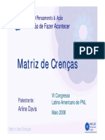 Matriz de Crencas - Arline Davis