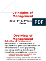 Principles of Management-2016 1st & 2nd Intenal