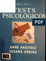 Anastasi, naturaleza pruebas psicológicas