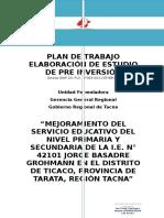 Plan de Trabajo Ie Jorge Basadre Ticaco