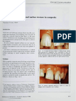 Simulating Irregular Enamel Surface Texture in Composite Resin Restorations
