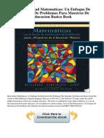Matematicas Un Enfoque de Resolucion de Problemas Para Maestros de Educacion Basica