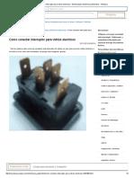 Interruptor Para Vidrios Electricos - Electricidad y Electrónica Automotriz