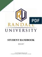 2016-2017 Student Handbook