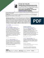 Descriptif-stage Violon 2010