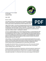 Letter to Gov. Snyder from Anglers of the Au Sable