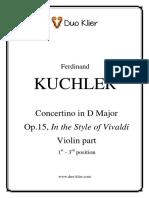 Kuchler Concertino Op.15
