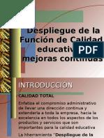 Ejeplo de Matriz QFD Para Educacion Universitaria