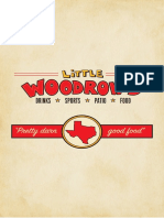 Little Woodrow's - Dallas lunch and dinner menu