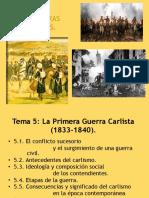 TEMA 5 Guerra Carlista 2016