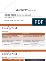 Equity Yield vs Bond Yield