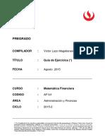 Guia de Ejercicios Matematicas Financieras 2015-2