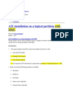 Installation Logical Partition
