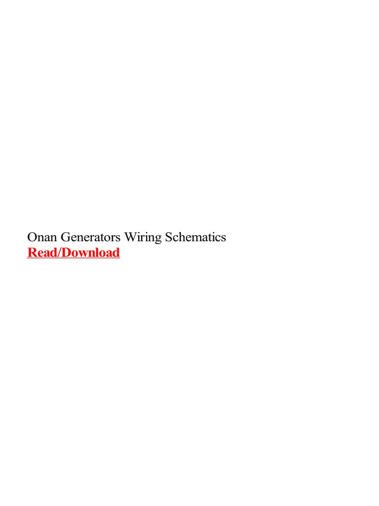 onan generators wiring schematics pdf cummins electric generator Pump Wiring Diagram
