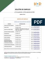 Boletín de Empleo Nº 10 - Fundación H+D