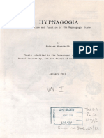 Hypnagogia, The Nature and Function of the Hypnagogic State. Vol. I_Andreas Mavromatis