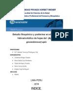 Estudio fitoquímico y preliminar en el  extracto hidroalcohólico de hojas del  (Apium graveolensvar) apio
