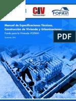 Manual Especificaciones Tecnicas Fopavi