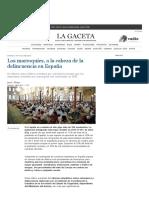 Los Marroquíes, A La Cabeza de La Delincuencia en España _ La Gaceta