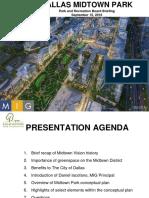 Dallas Midtown Park Briefing 9.15.2016