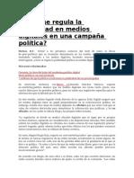 Cómo Se Regula La Publicidad en Medios Digitales en Una Campaña Política
