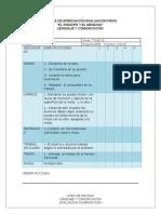 Escala de Apreciación Evaluacion Friso Evaluacion Diversificada Lenguaje -Artes
