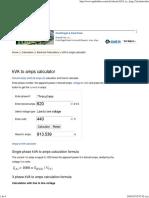 torKVA to Amps (a) Conversion Calcula