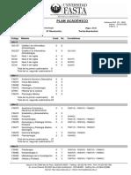 Plan de Estudios Licenciatura en Kinesiología