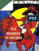 [Leo Perutz] the Marquis of Bolibar of Bolibar