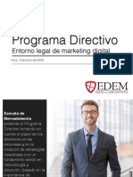 Programa Directivo Entorno Legal Marketing Digital