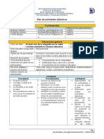 Plan de Actividades Didácticas- UNEFM