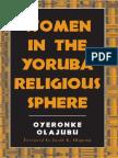 Oyeronke Olajubu-Women in the Yoruba Religious Sphere (Mcgill Studies in the History of Religion (1)