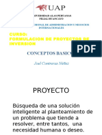 Formulacion de Proyectos Conceptos Basicos