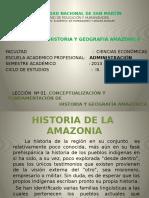 Lección Nº 01 ADMINISTRACIÓN- Hist. y Geog, Amazonica