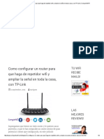 Como Configurar Un Router Para Que Haga de Repetidor Wifi y Ampliar La Señal en Toda La Casa, Con TP-Link _ CompartirWIFI