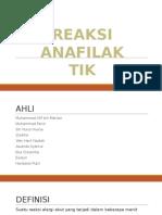 Reaksi Anafilaktik
