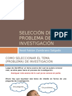 2- Selección Del Problema de Investigación