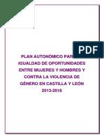 Plan Integral de Igualdad Oportunidades Castilla Leon