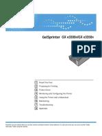 GelSprinter GX e2600_GX e3300N_GX e3350N_GX e7700N User Guide