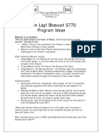 Tikun Leil Shavuot 5770 Program Ideas1